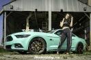 Bex Russ with Walter's Mustang