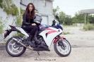 Bex with her Honda CBR