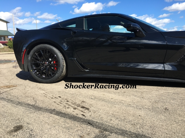 "C7Z06 with 19""x12"" C7Z06VetteOwners.com Replica Wheels and 345/30/19 Nitto NT05R Drag Radials"