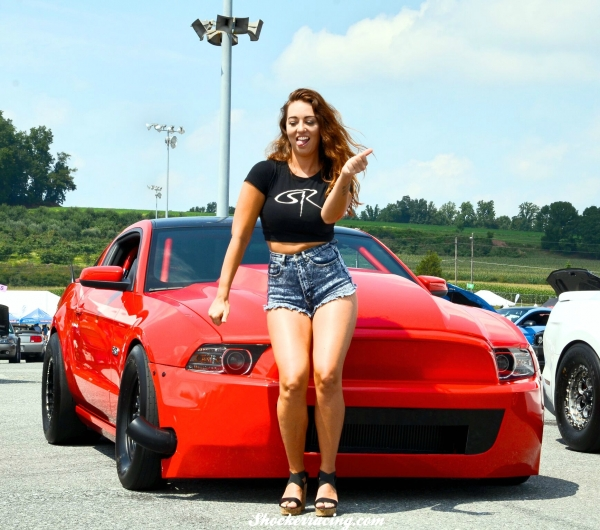 Bex Russ with a turbo Shelby at American Muscle 2017