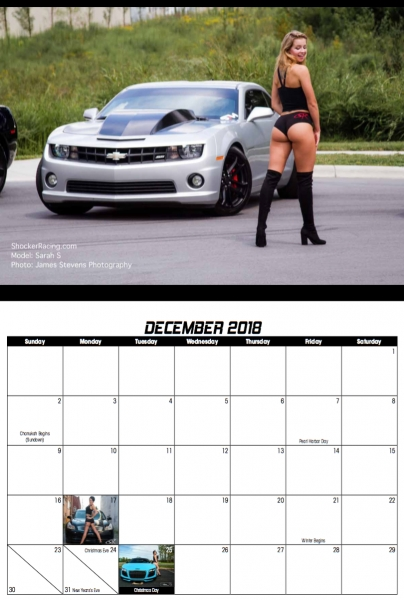 2019 ShockerRacing Girls Calendar Announcement