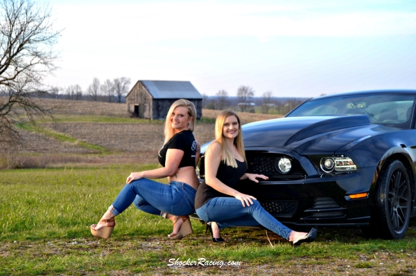 Jennifer Combs and her Sister Jordan for ShockerRacing Girls