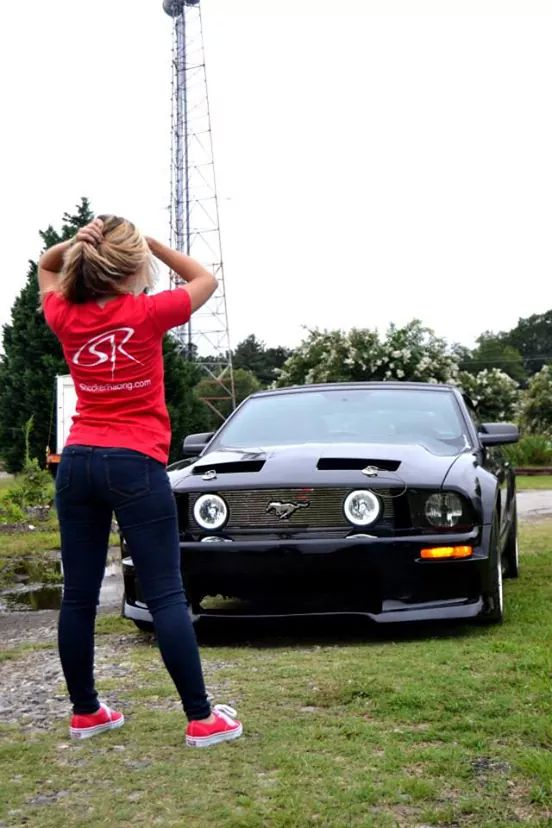 Taylor Sloan with her 2005 Ford Mustang GT Convertible